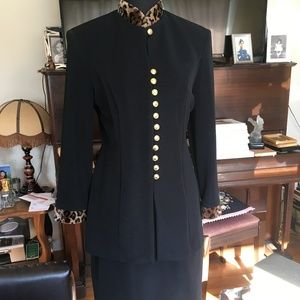 Princess Line Military Style Skirt and Top Suit
